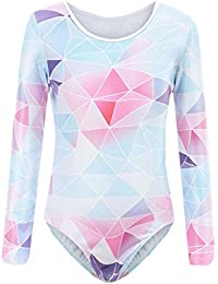 Gymnastics for Girls Sparkly Shiny Diamond Ballet Dancewear One Piece Outfit Kids Athletic Leotards 3-14 Years