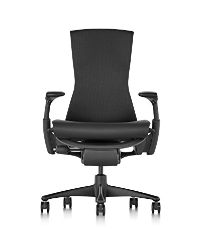 Herman Miller Embody Chair - Graphite Frame/Black Rhythm Textile , Graphite/Black Rhythm - CN122AWAAG1G1BB3014