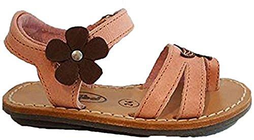 Französische Minibel Leder Sandalen lachs rosa braun extra softe Sohle
