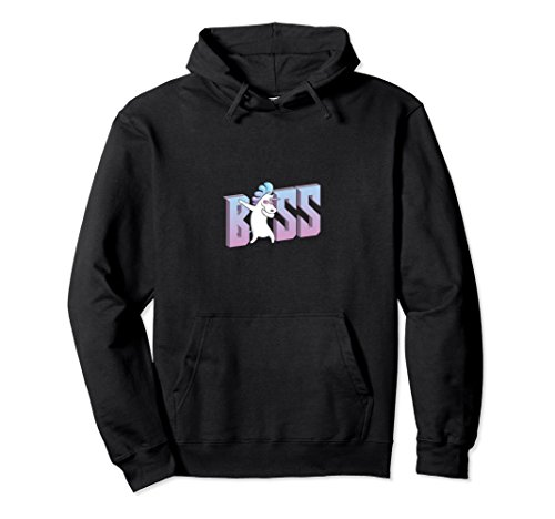 Unisex Cute Dabbing Unicorn Boss Dab Lover Funny Gift Hoodie Large Black