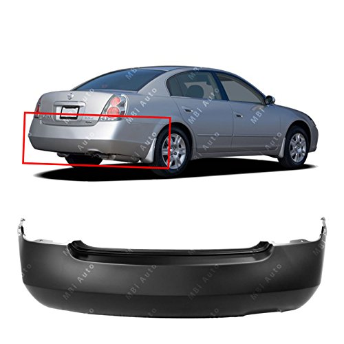 MBI AUTO Primered, Rear Bumper Cover for 2002-2006 Nissan Altima 02-06, NI1100225