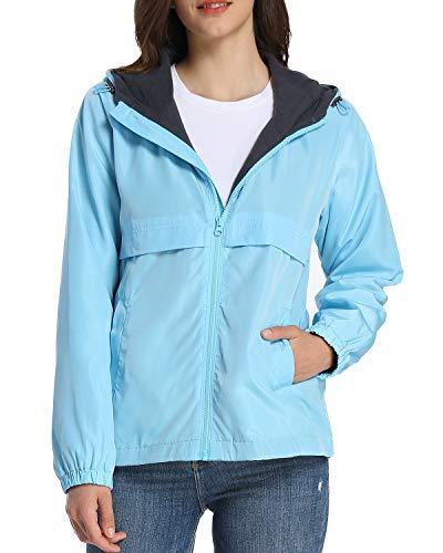 iLoveSIA Womens Fleece Lined Hooded Jacket with Rainproof Windproof Shell US 12 Mint ()