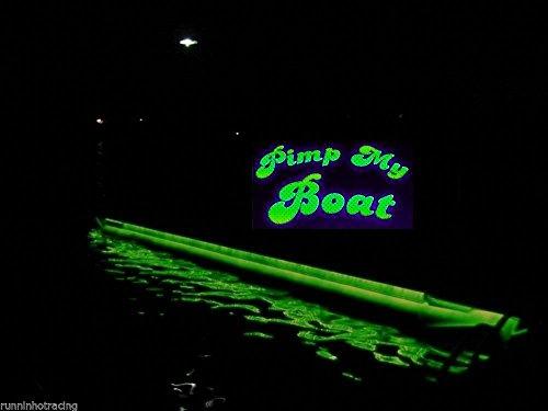 - Green Blob Outdoors Pimp My Pontoon Green LED Boat Deck Lighting Kit 30,000 Lumen with Bonus Red & Green Navigation Lights DIY Pontoon Under Deck Lighting kit for Pontoon Boats