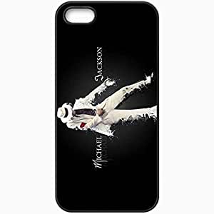 Personalized iPhone 5 5S Cell phone Case/Cover Skin Michael Jackson Suit Dance Letters Spray Black