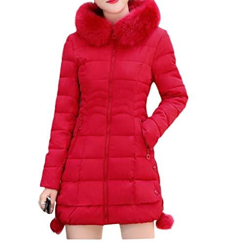 In Da Red Parka Abbinare Felpa A pelliccia Donna Cappuccio Con Comoda Energy Eco Oq7XEp