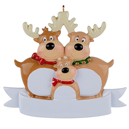Reindeer Family of 3 Ornament Christmas Decorations
