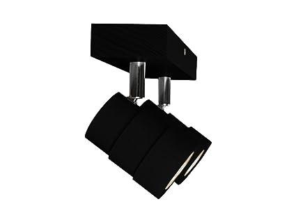 Led Deckenlampe Ledwa30x7 Schwarz Aus Holz Hausleuchten 10
