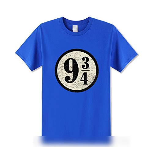 (Vintage Platform Nine Three Quarters T Shirts Men Harry Boys Short Sleeves Harajuku Hipster Tees,6,L)
