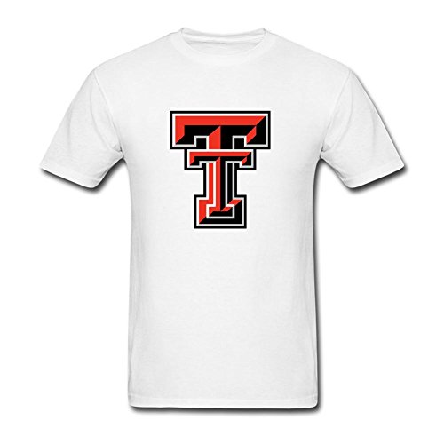 NYCQL Men's American College Football Team Big Texas Tech Red Raiders Logo T Shirts
