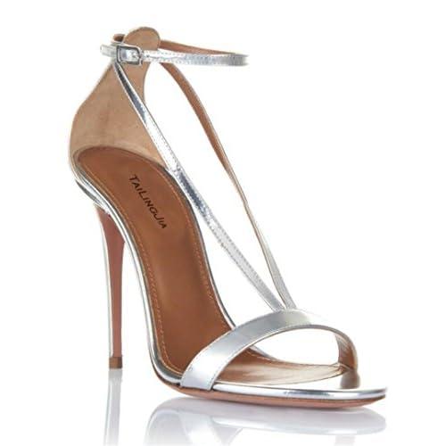 749ef350d 60% de descuento Zapatos de mujer Sandalias Charol Tobillo Correa Tacón de  aguja Fiesta Verano