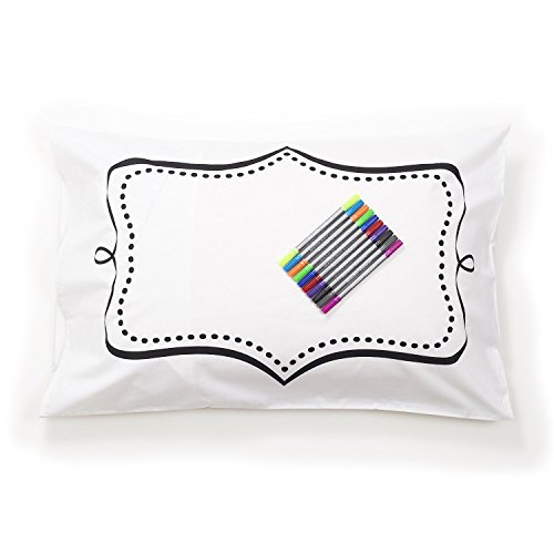 doodle pillowcase color your own pillow case coloring pillowcase with washable fabric markers. Black Bedroom Furniture Sets. Home Design Ideas