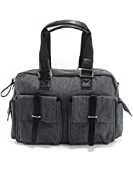 Nergivep 17.13l X 6.29w X 12.59h Inch Large Oxford Gray Men Office Handbag Tote Bag