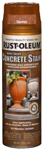 Rust-Oleum 247161 Concrete Stain Spray, Sienna, 15-Ounce