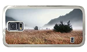 Hipster Samsung S5 Case silicone Foggy Grass Landscape PC Transparent for Samsung S5