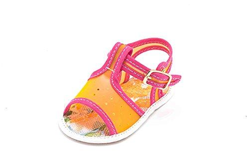ABA fille e bébé Chaussures Arancione orange souples pour Fucsia HwxH4v7Rqr