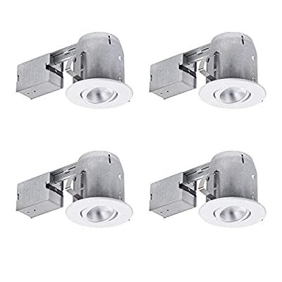 """5"""" LED IC Rated Regressed Ridged Baffle Dimmable Downlight Recessed Lighting Kit"""