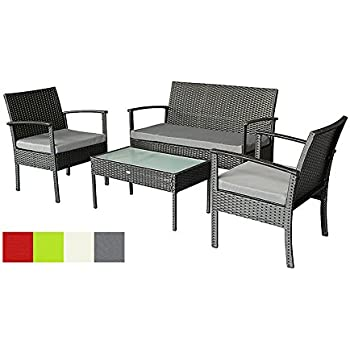 oakside small patio furniture set outdoor wicker porch furniture loveseat and chairs with extra cushion covers - Small Patio Set