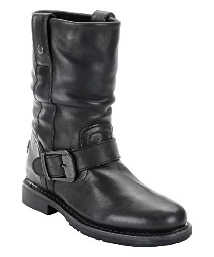 Biker Boots Darice Original Harley Slip Leather Davidson On Boot Black Ladies 8WA7qU