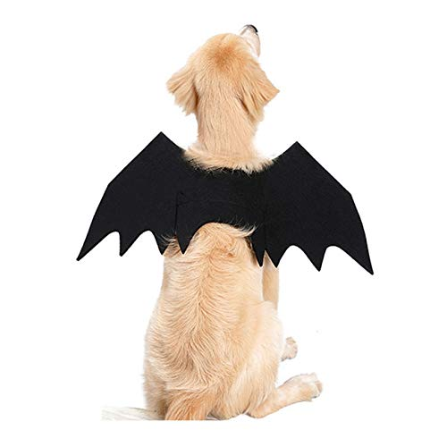 MOCUER Pet Dog Cat Halloween Costume Accessories Animal Bat Wings Supply Dress Up Black