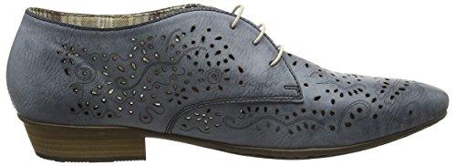 Rieker 58246 Women Derby - Zapatos de cordones derby Mujer Azul - Blau (azur / 12)