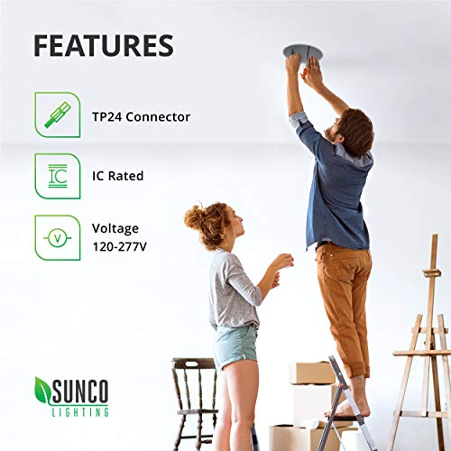 Sunco Lighting 10 Pack 4 Inch New Construction Housing, Air Tight IC Rated Steel Can, 120-277V, TP24 Connector Included for Easy Install - UL & Title 24 Compliant by Sunco Lighting (Image #5)