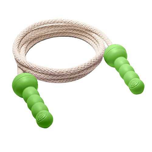 Green Toys Jump Rope - BPA Free, Phthalates Free, Green Handle Skipping Rope Better Health, Increased Concentration. Fitness Equipment