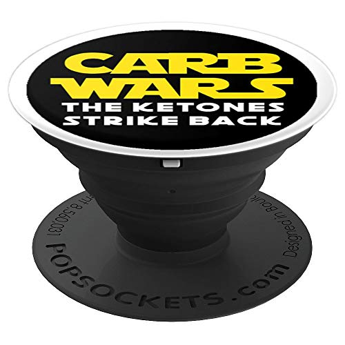 Carb Wars The Ketones Strike Back Keto Diet Grip - PopSockets Grip and  Stand for Phones and Tablets