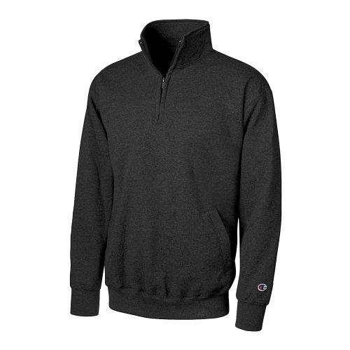 1/4 Jacket Reversible Zip (Champion Men's Powerblend Fleece 1/4 Zip Pullover)