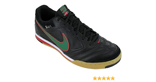3a3dfee76f71 Amazon.com | NIKE 5 Gato Leather Indoor Soccer Shoes Black/Green | Soccer
