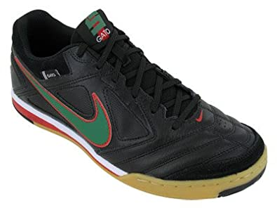 pretty nice df9d1 7e348 Nike 5 Gato Leather Indoor Soccer Shoes (4) Black Green