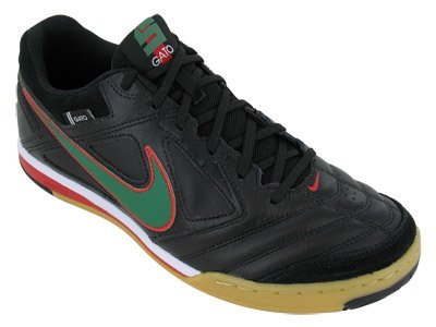 59be37fc95471 Amazon.com | NIKE 5 Gato Leather Indoor Soccer Shoes Black/Green ...