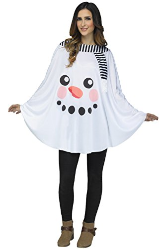 Womens Homemade Snowman Costumes - Fun World Women's Snowman Poncho Adult-as