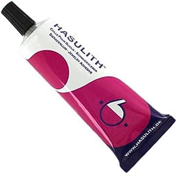 Hasulith - Pegamento para joyas (1 tubo de 31 ml, para cristales de vidrio, similio o brillantes a partir de 5 mm)