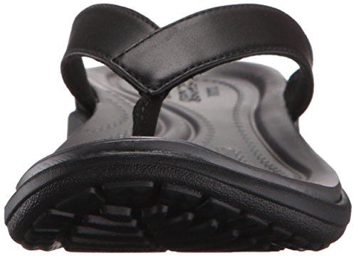 graphite flop V Capri Sandalias Para Crocs black Mujer Flip Negro 6aqng