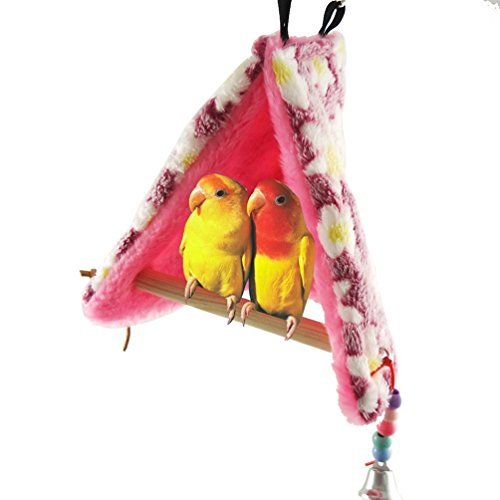 Winter Soft Bird Nest Hammock House Perch For Parrot Budgies Parakeet Cockatiels Cockatoo Conure Lovebird Finch Cage Swing Toy by Keersi