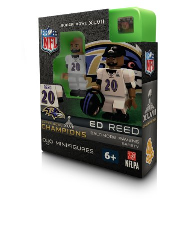 NFL Baltimore Ravens Ed Reed Super Bowl Champion OYO Figure