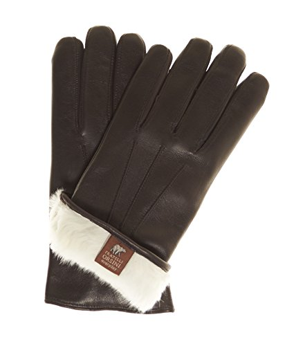 Fratelli Orsini Everyday Men's Our Bestselling Italian Rabbit Fur Gloves Size L Color Brown