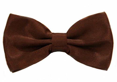 - Soophen Pre Tied Mens Adjustable Bow Tie Brown