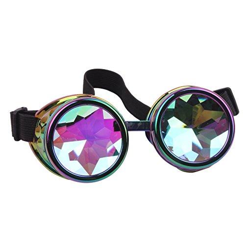 Vistoso Gafas de caleidoscopio traje de de sol lujo de Steampunk redondas moda Gafas Gafas ICOwRq