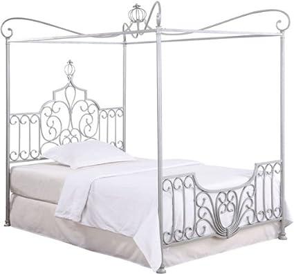 Amazon Com Powell Princess Rebecca Sparkle Silver Canopy Full Bed