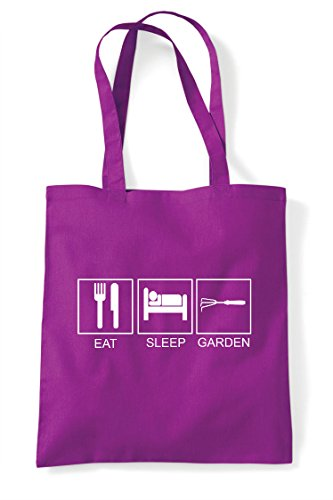 Sleep Shopper Activity Eat Tote Funny Bag Garden Hobby Tiles Magenta 6UqdAanS