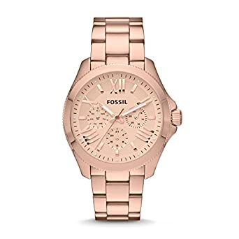 0df887769cc0 Fossil Women s AM4511 Cecile Multifunction Stainless Steel Watch - Rose Gold -Tone