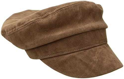 (Nine West Women's Faux Suede Flat Cap, Taupe, One Size)