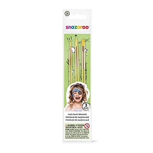 Snazaroo Green Starter Brushes - Set of 3