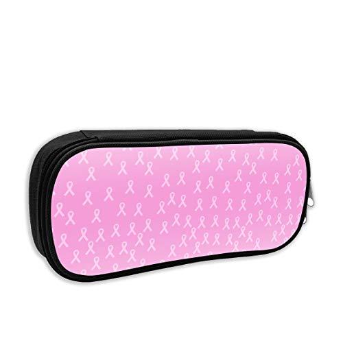 Breast Cancer Awareness Pink Ribbon Women Nylon Cute Makeup Bag Cosmetic Bags Protable Travel Organizer 2174M
