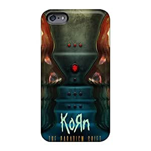 Shock-Absorbing Hard Phone Covers For Iphone 6 With Allow Personal Design Vivid Korn Band Skin AlainTanielian