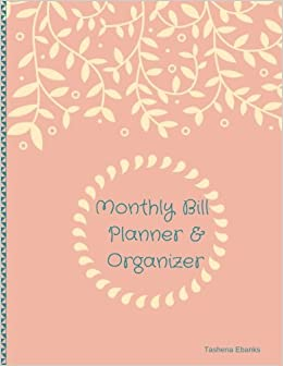 amazon monthly bill planner organizer budget planning journal