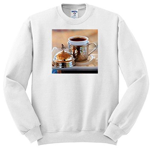 Price comparison product image 3dRose Danita Delimont - Food - Turkey, Anatolia, Nevsehir, Uchisar Cafe, Turkish Coffee. - Sweatshirts - Youth Sweatshirt Small(6-8) (SS_277004_10)