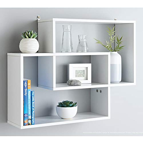 W60 x D16 x H48cm Approx. White Kachhu/® Display Wall Shelf Dimensions