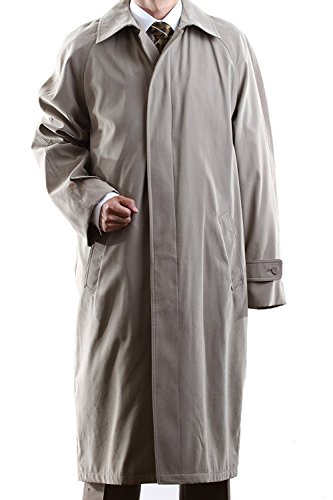 Cianni Mens Full Length All Year Round Belted Raincoat with Removable Liner